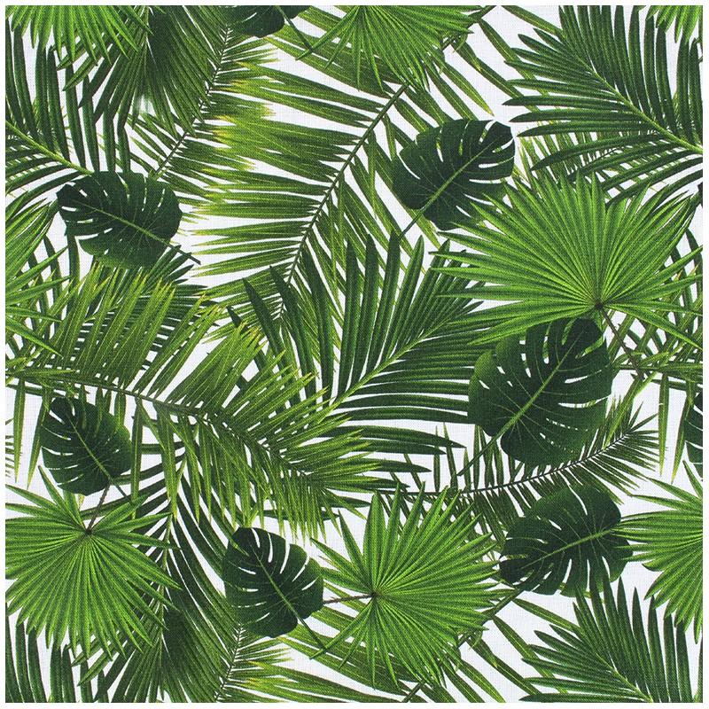 tissu popeline souple tropical vert x 10cm ma petite. Black Bedroom Furniture Sets. Home Design Ideas