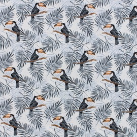Poplin Fabric Toucan - white x 10cm