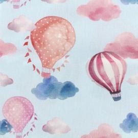 Tissu popeline souple Air balloon - ciel x 16cm