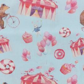 Tissu popeline souple Circus - ciel x 16cm