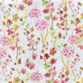 Tissu popeline souple Marta - rose x 10cm