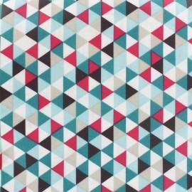 Coated cotton fabric Trimix - teal/fuchsia x 10cm