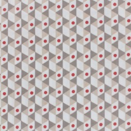 Coated cotton fabric Noho - taupe/beige x 10cm