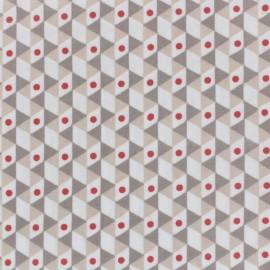 Tissu enduit coton Noho - taupe/beige x 10cm