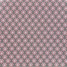 Tissu enduit coton Sotang - taupe/beige x 10cm