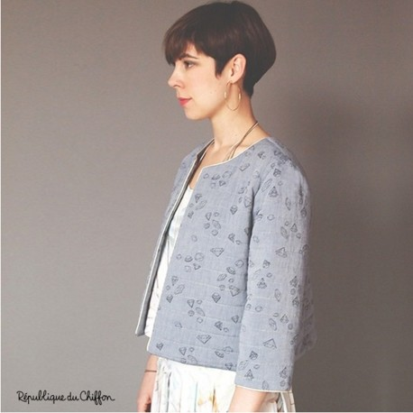 Sewing pattern République du Chiffon Jacket - Bernadette