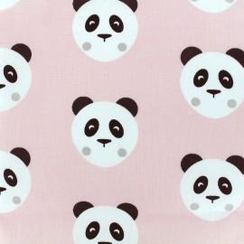 Cotton fabric Maotey - light pink/black x 20cm