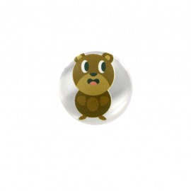 Fermette polyester button - young bear
