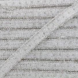 Iron on ribbon Diamant - white x 50cm