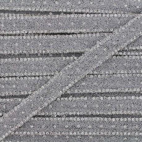 Ruban thermocollant Diamant - argent x 50cm