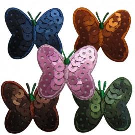 Papillon paillettes aspect mat