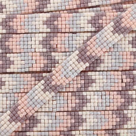 Ruban thermocollant Chevron mosaïque - rose x 40cm