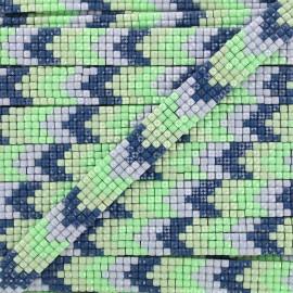 Ruban thermocollant Chevron mosaïque - vert x 40cm