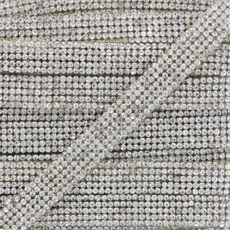 Iron on ribbon Elegance - silver x 50cm