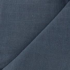 Oraganic cotton muslin Bébé lange fabric - indigo x 10cm