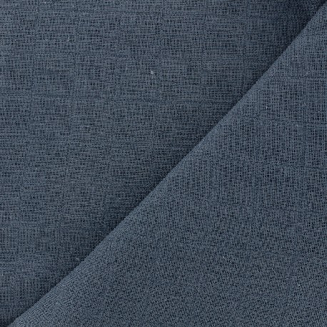 Tissu lange de coton Bébé lange bio-OEKO-TEX - indigo x 10cm