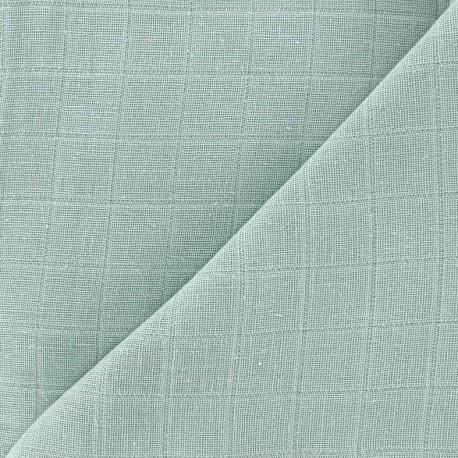 Oraganic cotton muslin Bébé lange fabric - tilleul x 10cm