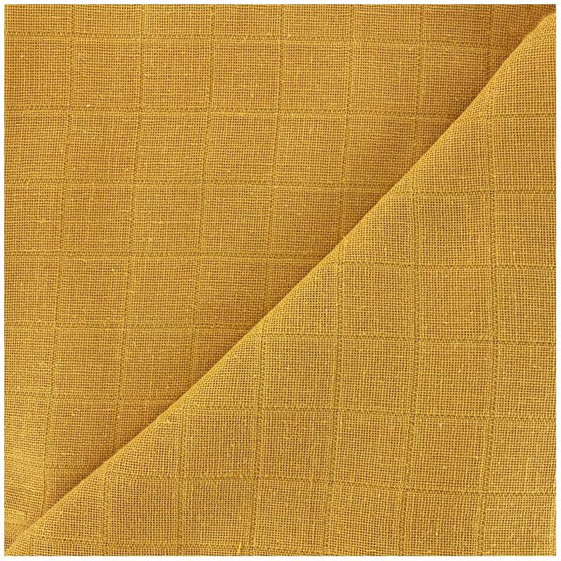 tissu lange de coton b b lange bio oeko tex miel x 10cm ma petite mercerie. Black Bedroom Furniture Sets. Home Design Ideas