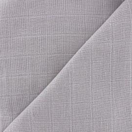 Tissu lange de coton Bébé lange bio-OEKO-TEX - acier x 10cm