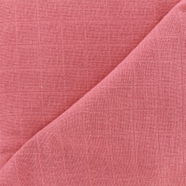 Oraganic cotton muslin Bébé lange fabric - garance x 10cm