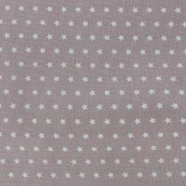 Tissu coton popeline Color Etoiles - Taupe x 10cm