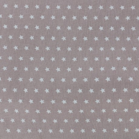 Cotton poplin fabric Color Stars - Grey x 10cm