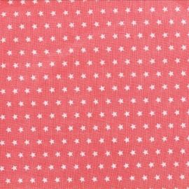 Cotton poplin fabric Color Stars - Coral x 10cm