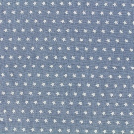 Cotton poplin fabric Color Stars - Blue x 10cm