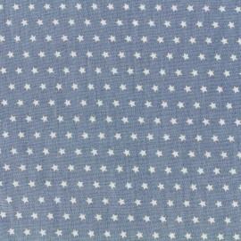 Tissu coton popeline Color Etoiles - Bleu x 10cm