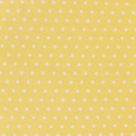 Cotton poplin fabric Color Stars - Yellow x 10cm