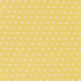 Tissu coton popeline Color Etoiles - Jaune x 10cm