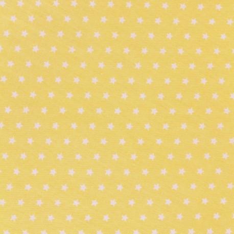 Cotton poplin fabric Color Stars - Yellow x 10cm