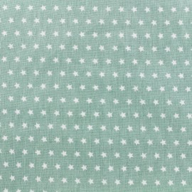Cotton poplin fabric Color Stars - Sauge green x 10cm
