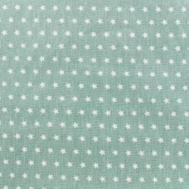 Tissu coton popeline Color Etoiles - Vert sauge x 10cm