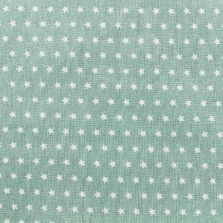 Cotton poplin fabric Color Stars - Sauge green x 10cm