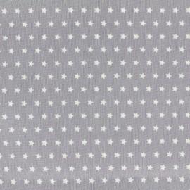 Tissu coton popeline Color Etoiles - Gris clair x 10cm