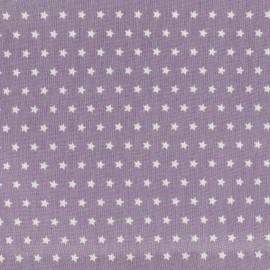 Tissu coton popeline Color Etoiles - Parme x 10cm