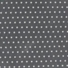 Tissu coton popeline Color Etoiles - Anthracite x 10cm