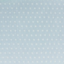 Cotton poplin fabric Color Stars - Sky blue x 10cm