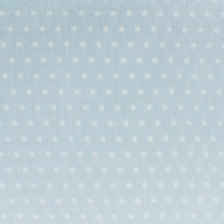 Tissu coton popeline Color Etoiles Bleu ciel x 10cm