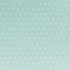 Tissu coton popeline Color Etoiles - Vert d'eau x 10cm