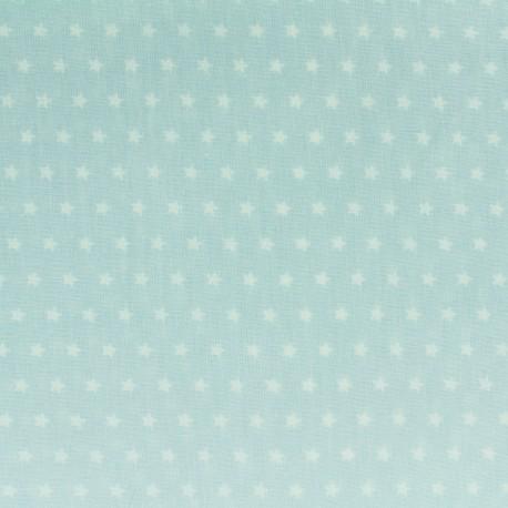 Cotton poplin fabric Color Stars - Seagreen x 10cm
