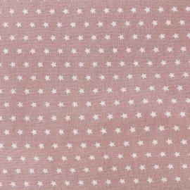 Tissu coton popeline Color Etoiles - Vieux rose x 10cm