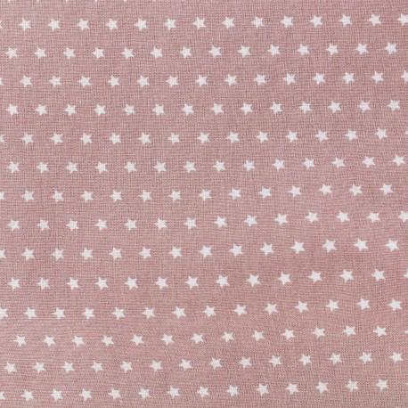 Cotton poplin fabric Color Stars - Old Pink x 10cm