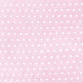 Cotton poplin fabric Color Stars - Pink x 10cm