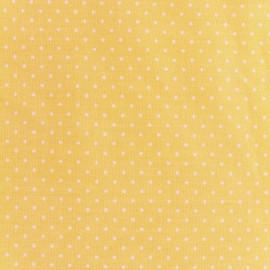 Tissu coton popeline Color Pois - Jaune x 10cm