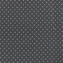 Tissu coton popeline Color Pois - Anthracite x 10cm