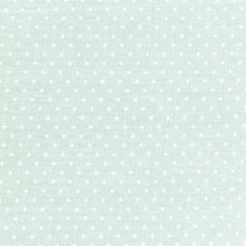 Tissu coton popeline Color Pois - Vert d'eau x 10cm