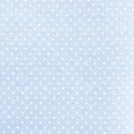 Tissu coton popeline Color Pois - Bleu ciel  x 10cm