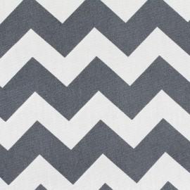 Tissu coton popeline Color Chevrons - Anthracite x 10cm
